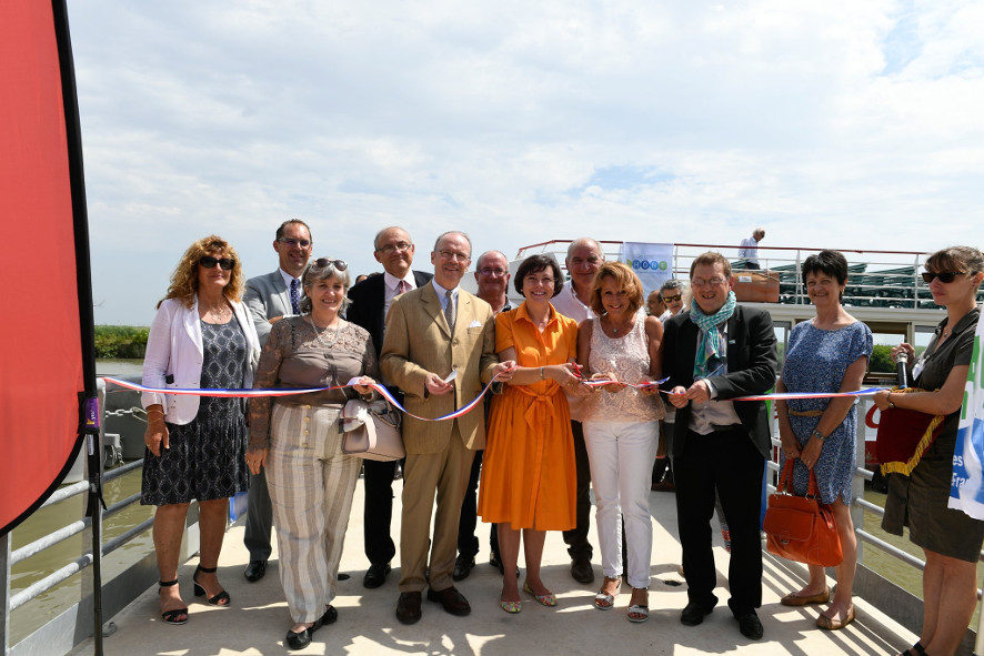Inauguration de chantier Voies Navigables de France